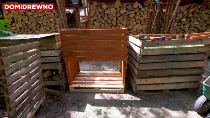 Malowanie i impregnowanie drewnianego kompostownika